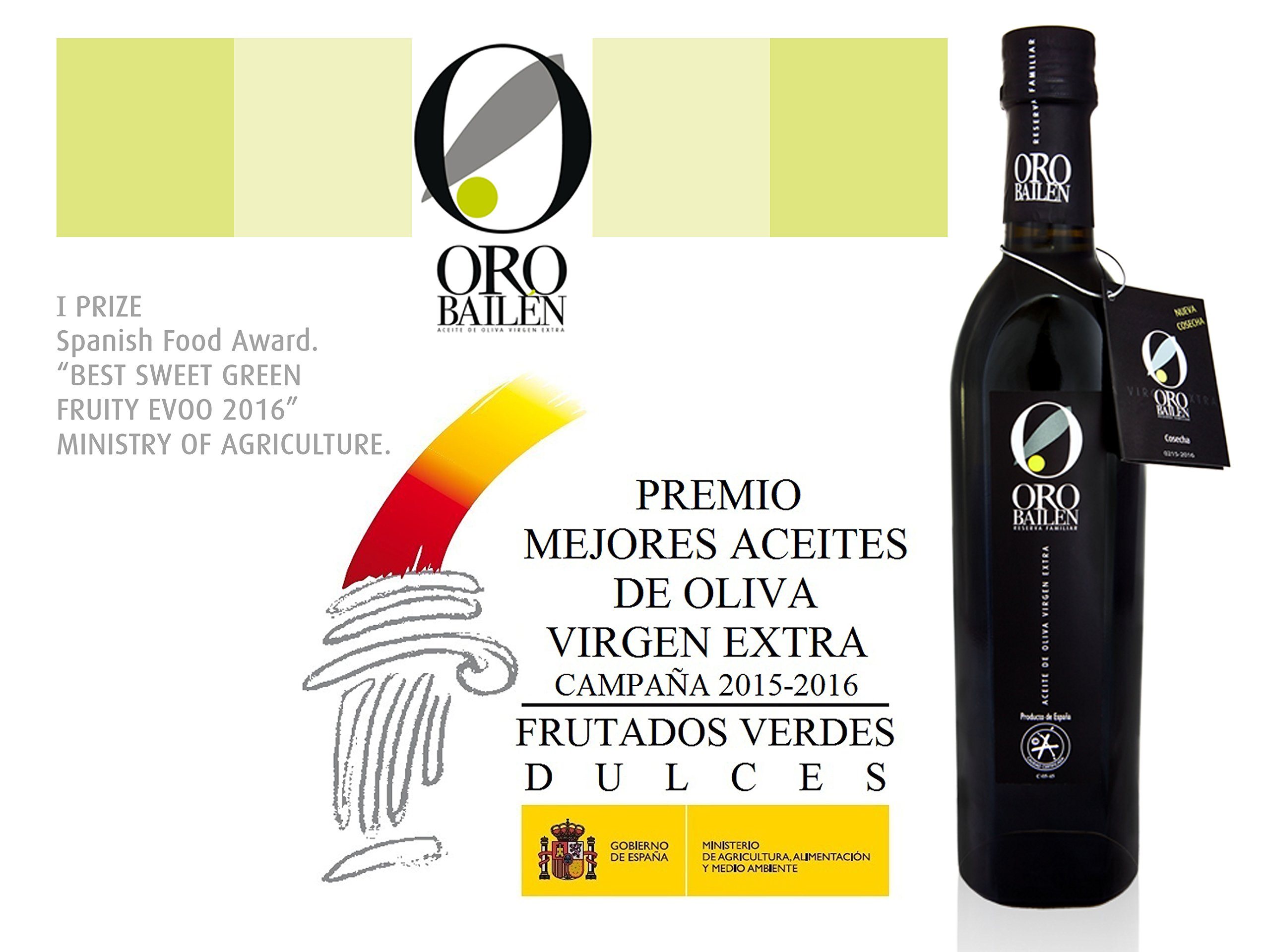 3 bottles Oro Bailen Family Reserve - Extra Virgin Olive Oil, New Harvest 2017, 17-Ounce / 500 ml by Oro Bailen (Image #8)