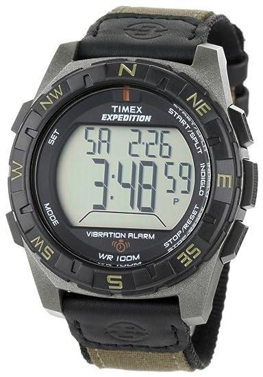 Timex Expedition T49854 - Reloj de caballero de cuarzo, correa de textil color verde: Timex: Amazon.es: Relojes
