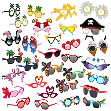 musykrafties Foto Booth Props, Rainbow Sun Sunglasses, 10-Bundle