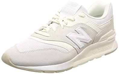 3ac0db529d new balance Men's 997 White Leather Sneakers-10 UK/India (44.5 EU ...