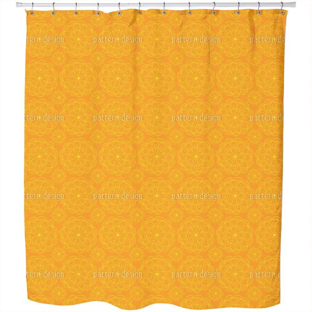 Uneekee Flowers On My Summer Sari Shower Curtain: Large Waterproof Luxurious Bathroom Design Woven Fabric