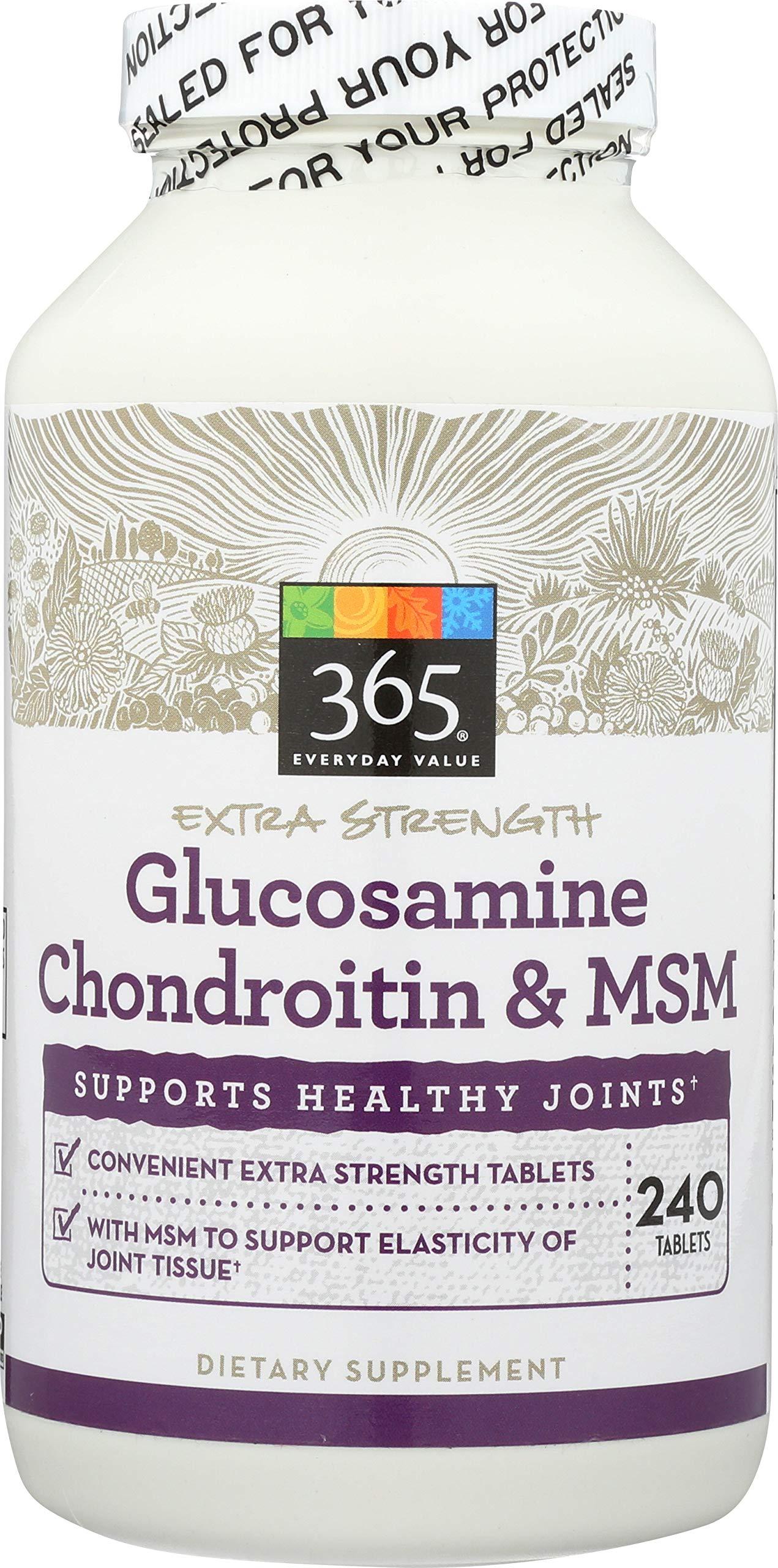 365 Everyday Value, Glucosamine Chondriotin & MSM, 240 ct
