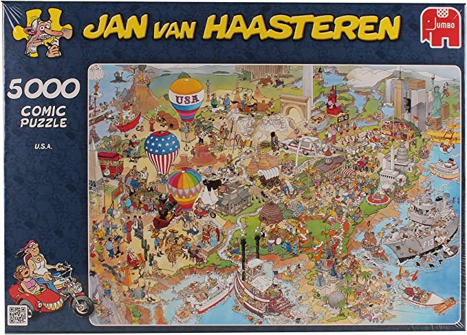 Jumbo 17316 - Puzzle de EE. UU. de Jan Van Haasteren (5000 Piezas): Jan van Haasteren USA Jigsaw Puzzle (5000 Pieces): Amazon.es: Juguetes y juegos