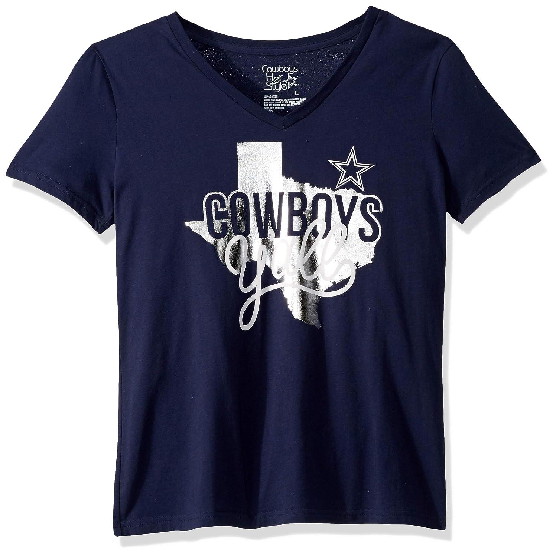 NFL Dallas Cowboys Womens Kit T-shirt Medium Navy