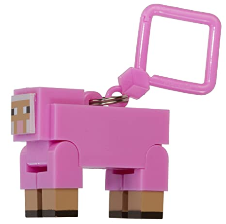 amazon com pink sheep 2 action figure hanger official minecraft