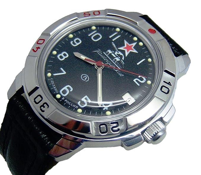 Vostok KOMANDIRSKIE Militar ruso reloj Comandante de tanque negro 2414/431306: Amazon.es: Relojes