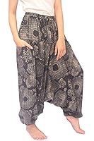 Wynnthaishop'100% Cotton Baggy Boho Aladin Yoga Harem Pants