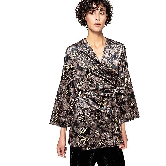 La Redoute Collections Donna Giacca Kimono in Velluto  Amazon.it   Abbigliamento 53040fe18d9