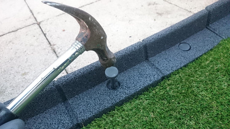 FlexiBorder   Weatherproof, Lawnmower Safe, Flexible Garden Lawn Edging   6  X 1 Metre Lengths In A Pack (Brown): Amazon.co.uk: Kitchen U0026 Home