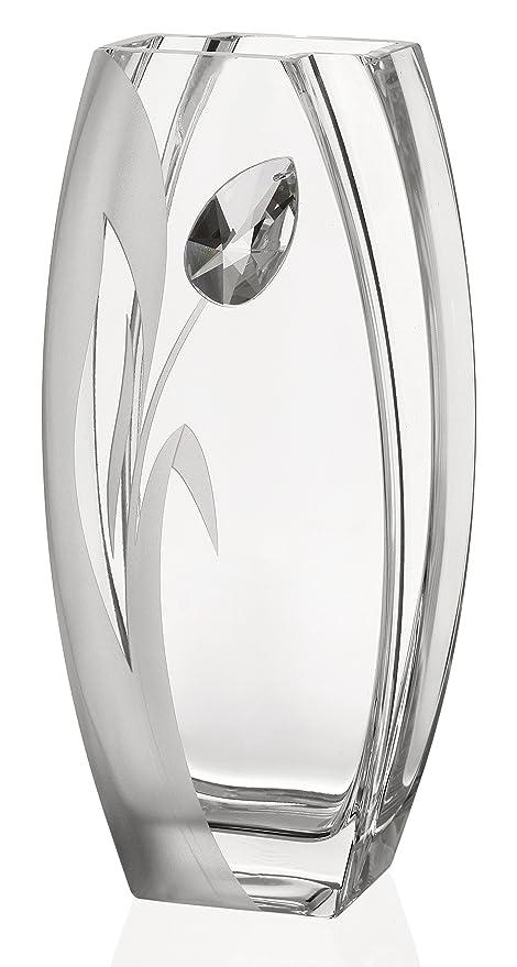 Amazon Large Hand Made Glass Vase With A Large Swarovski