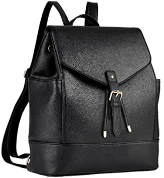 b983ca87d96 Backpack Womens,COOFIT Faux Leather Backpack for Girls Schoolbag Casual  Daypack School Backpacks Bag Satchel Black  Amazon.co.uk  Luggage