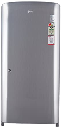 LG 215 L 2 Star Direct Cool Single Door Refrigerator(GL-B221RPZV, Shiny Steel)
