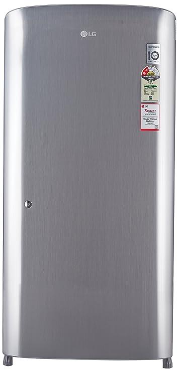 LG 215 L 2 Star Direct Cool Single Door Refrigerator GL B221RPZV, Shiny Steel  Refrigerators
