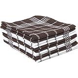 J & M Home Fashions Waffle Weave Kitchen Dishcloth Set (12 Pack), Mocha