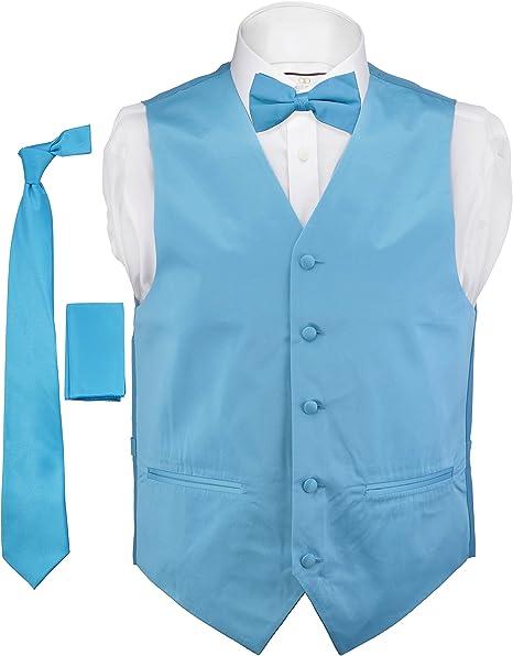 New Brand Q Men/'s Micro Fiber Paisley Neck Tie /& Hankie Set mint green formal