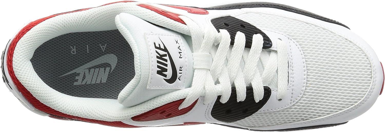 Details zu NEU Nike Air Max 90 Essential 537384 129 WeißRotSchwarz