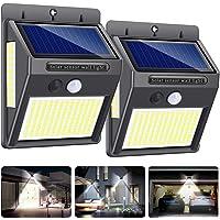 Luz Solar Exterior,Innosinpo【2021 Ultimo Modelo 2 Pack 216 LED】Focos Solares Exterior con Sensor de Movimiento,Luces LED…