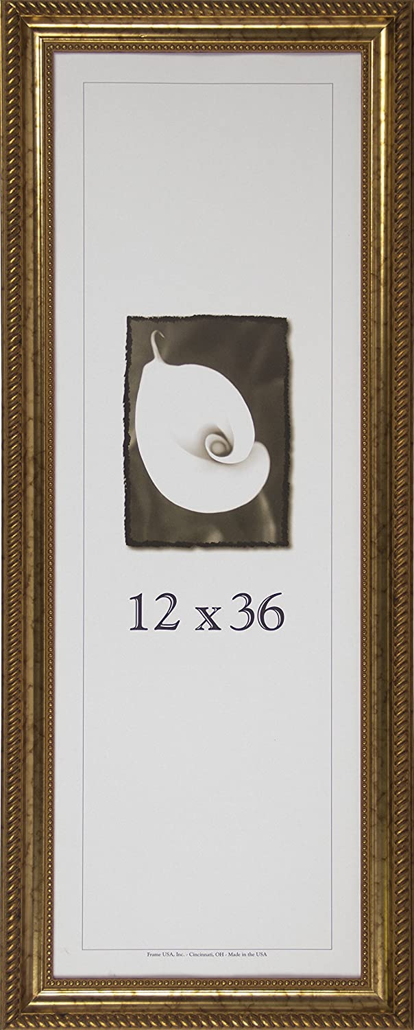 Amazoncom 12x36 Antique Wood Picture Frame Silver Single Frames
