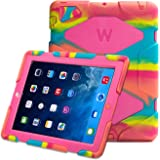 iPad 2/3/4 case,kidspr ipad caseNEWHOT Super Protect[shockproof] [rainproof] [sandproof] with Built-in Screen Protector for Apple iPad 2/3/4,2015 new style for ipad 2/3/4 (Camouflage pink/white) ¡