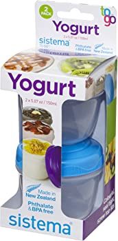 Sistema To Go Collection Yogurt 5-oz. Food Storage Container 2-Pk