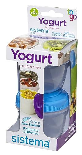 Sistema Yogurt To Go Round Containers, 150 ml - Pack of 2