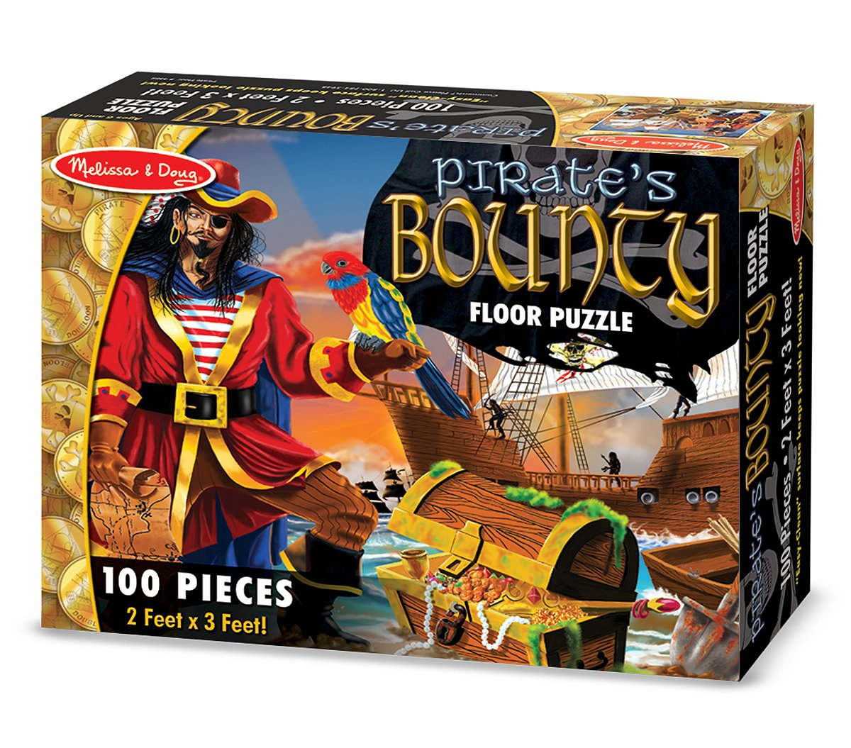 Melissa & Doug Pirate's Bounty Jumbo Jigsaw Floor Puzzle (100 pcs, 2 x 3 feet) by Melissa & Doug