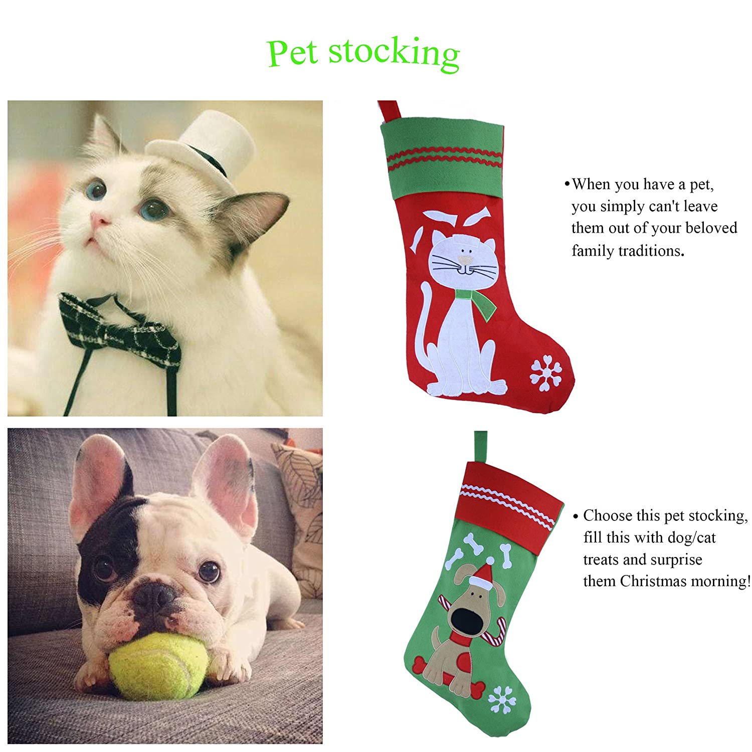 amazon com wewill lovely embroidered pets pattern christmas