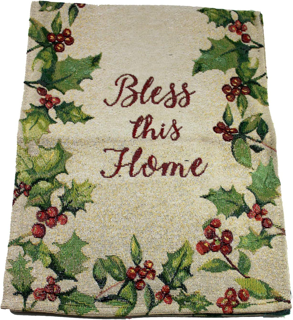 Asian Zing Bless This Home Holiday Style Table Runner