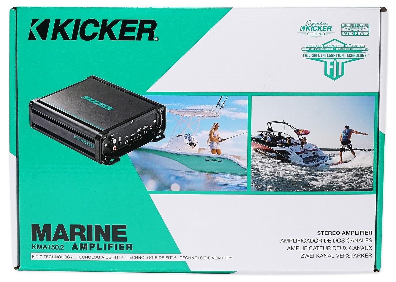 Amazon.com: KICKER 45KMA1502 150w 2-Channel Marine Ampifier+ ...