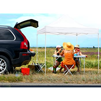 Ohuhu Pop-Up Canopy Instant Shelter W/ Wheeled Carry Bag