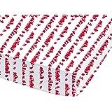 CTI 042433 Astérix Drap Housse Coton Blanc/Rouge 90 x 190 cm