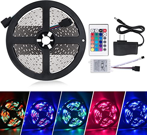 5M//16.4FT 12V SMD 3528 RGB Single Color Waterproof 300 LED Flexible Strip Light