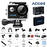 "Amazon Price History for:Acko 4K Wifi Sports Action Ultra HD Digital Camera Camcorder DV 12MP High Speed Image 720 Degrees Wide Angle 2"" LCD Screen 2.4G Remote Control/2x 1050mAh Rechargeable Batteries/Mounting Kits"