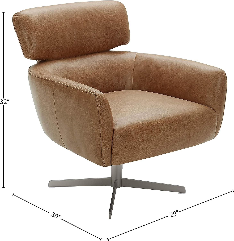 Amazon Brand – Rivet Adrienne Swivel-Base Contemporary Living-Room Chair, 29