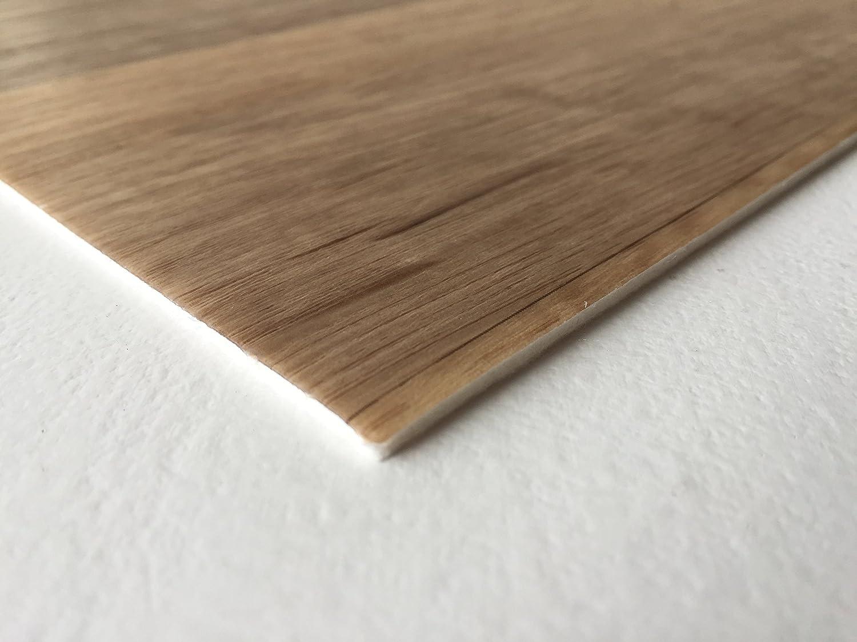 robuster rutschhemmender Fu/ßboden-Belag L/ängen Fu/ßbodenheizung geeignet PVC-Boden Holzdielenoptik Braun Landhaus Vliesr/ücken| Muster Platten strapazierf/ähig /& pflegeleicht Vinylboden versch