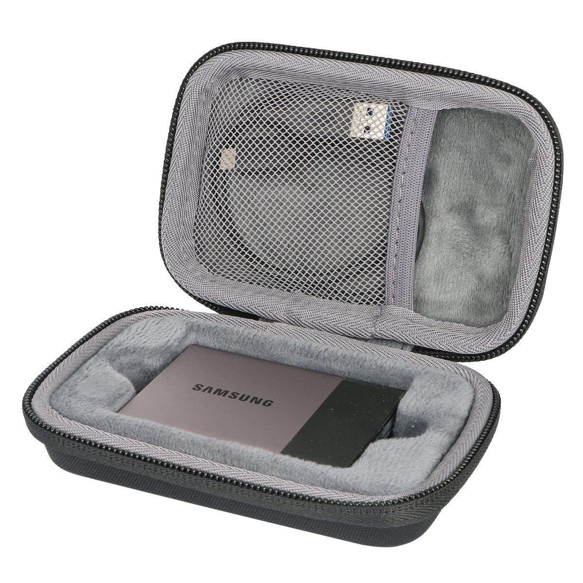 co2CREA Hard custodia Borse Viaggio per Samsung T3//T5 SSD Portable External Solid State Drive 250GB 500GB 1TB 2TB