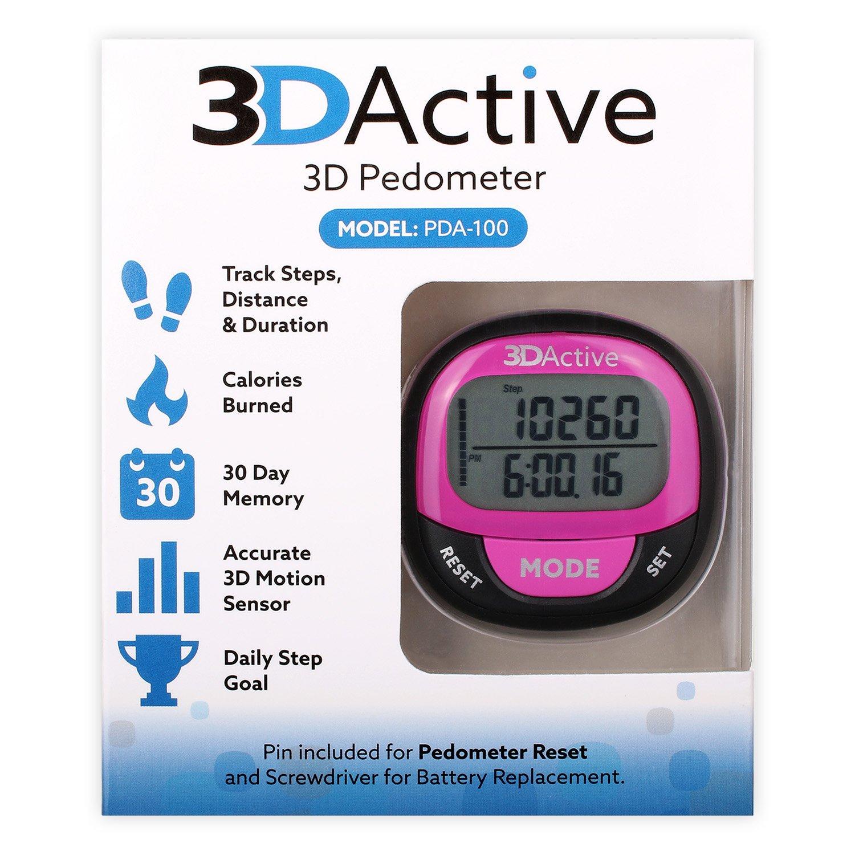 3dactive 3d podómetro pda-100| mejor podómetro para caminar, con ...