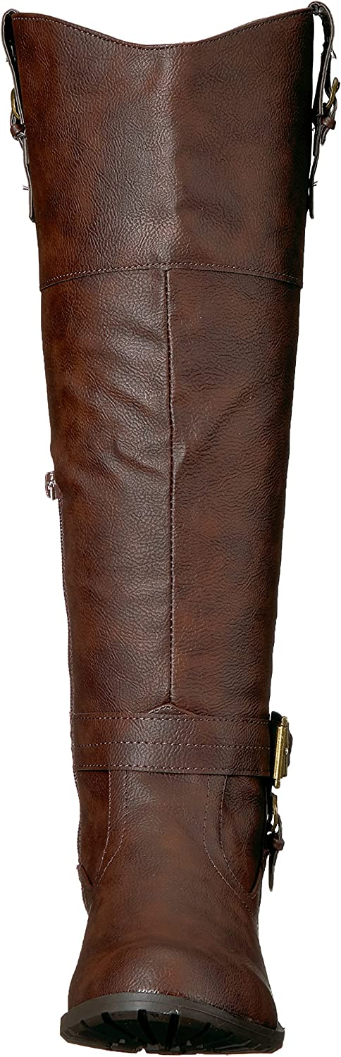 Rampage Womens Ivelia Fashion Knee High Casual Riding Boot Available in Wide Calf