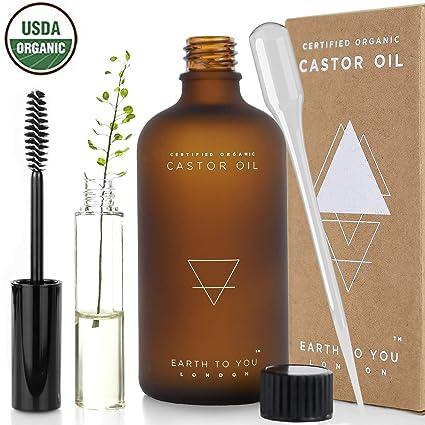 100% puro orgánico aceite de ricino. hexano libre, prensado en frío, no OMG para el cabello, pestañas y cejas crecimiento. Reparación pelo, hidrata la ...