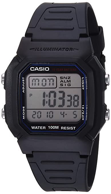 2b28ffefb146 Casio Men s W800H-1AV Classic Sport Watch with Black Band  CASIO   Amazon.com.mx  Relojes
