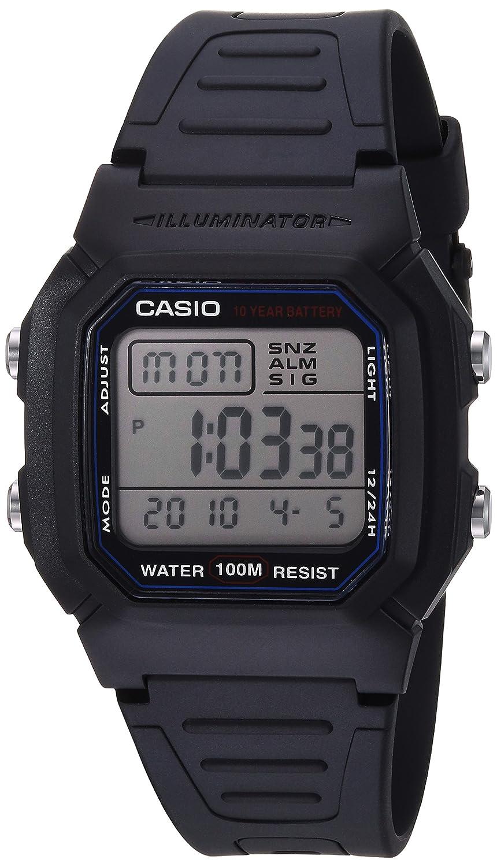 Casio W800H-1AV - Reloj para Hombres, Correa de Goma Color Negro