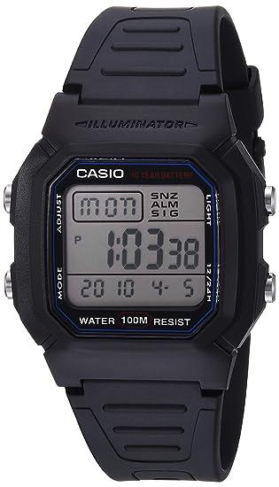 Casio W800H-1AV - Reloj para hombres, correa de goma color negro: Casio: Amazon.es: Relojes