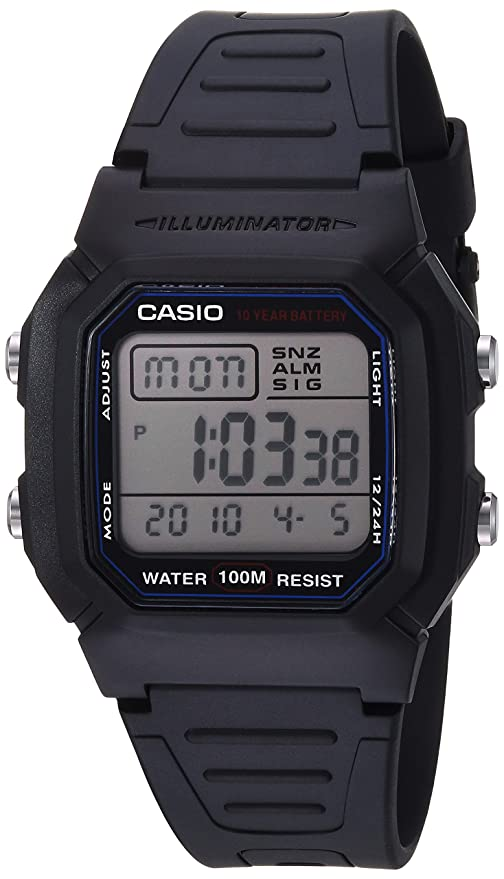 a25f983ba8c0 Amazon.com  Casio Men s W800H-1AV Classic Sport Watch with Black Band  CASIO   Watches