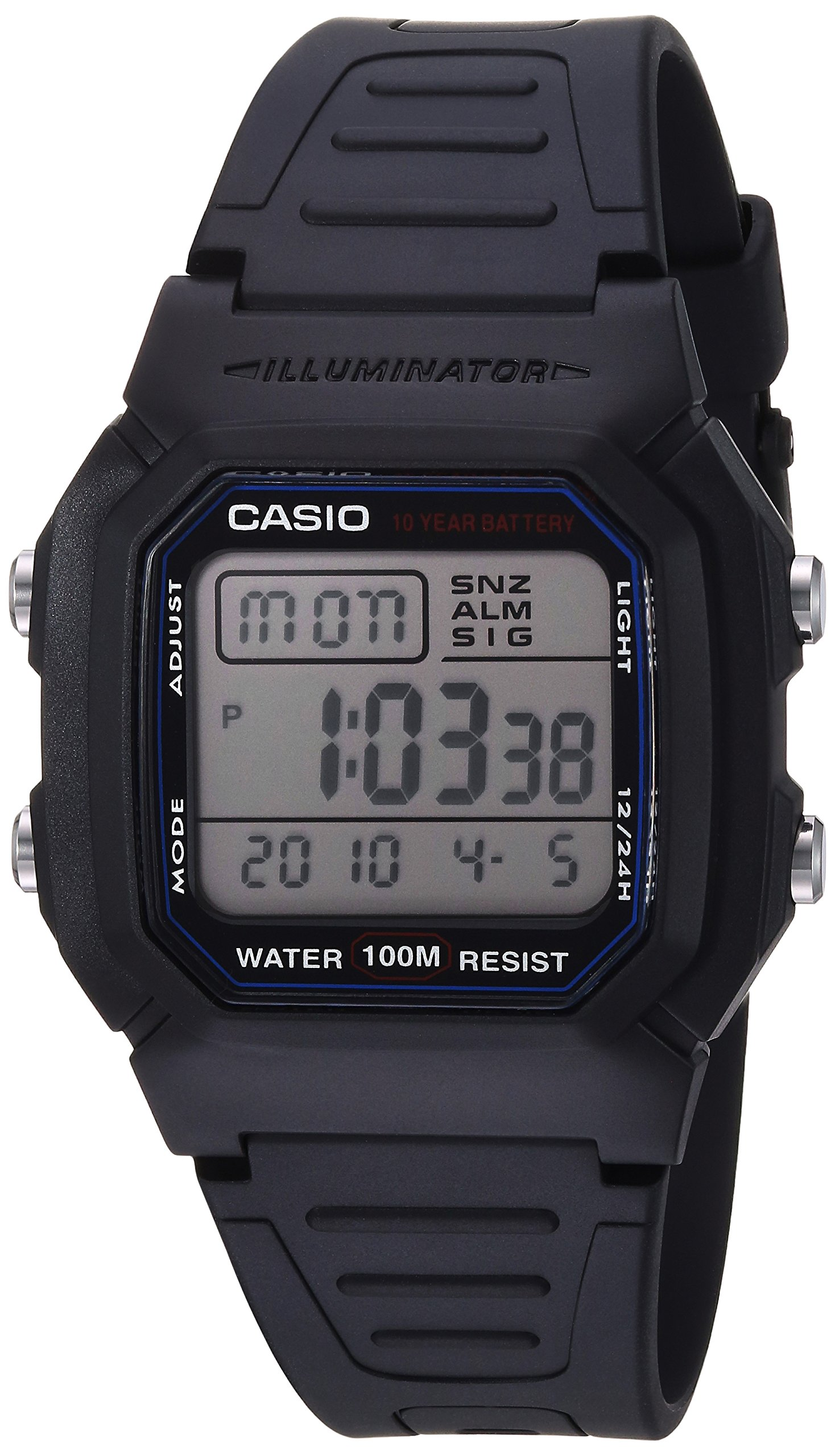 Men's W800H-1AV Classic Sport Watch with Black Band