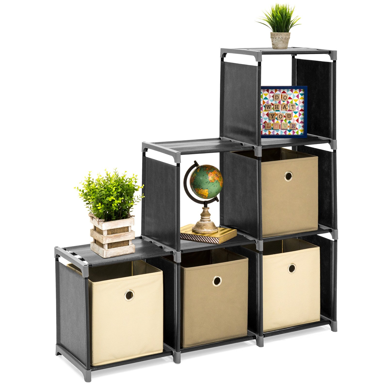 Best Choice Products 6-Drawer Multi-Purpose Shelving Cubby Storage Cabinet (Black) by Best Choice Products (Image #7)