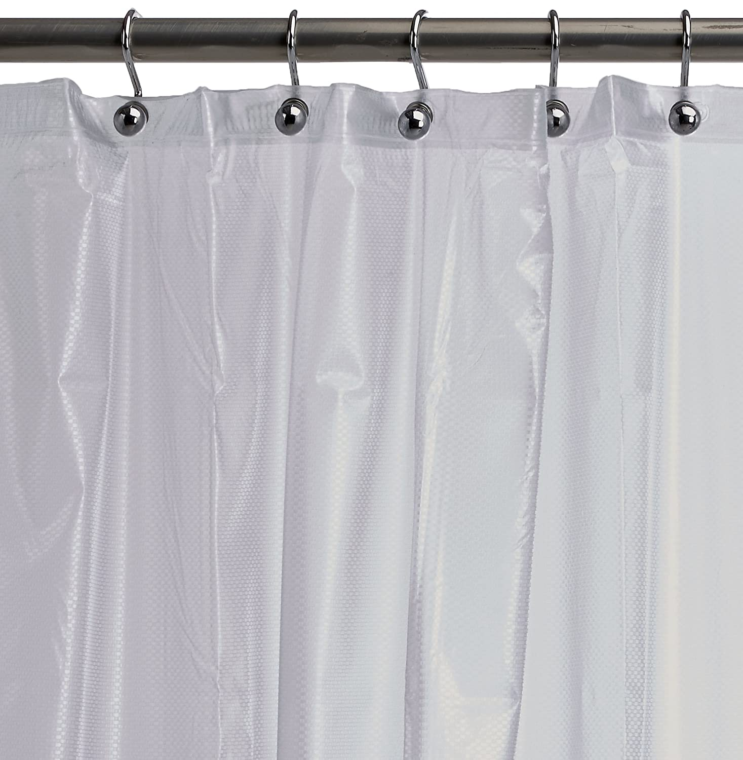 Amazon.com: Ex-Cell Soft Sensation Shower Curtain Liner, Frosty ...