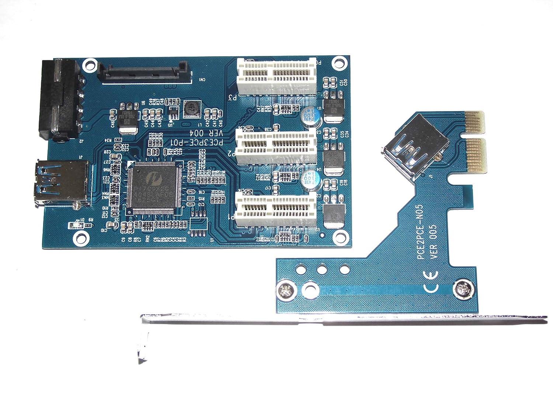 Generic 1 A 3 PCI Express 1 X ranura tarjeta elevadora PCIe x1 A ...