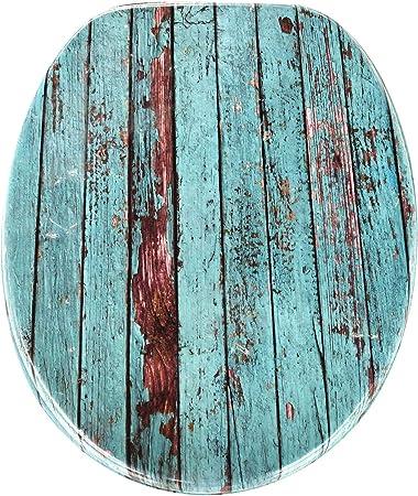 Kleebau Dewdrop WC-Sitz Deckel mit Absenkautomatik MDF Toilettensitz Deckel aus Holz