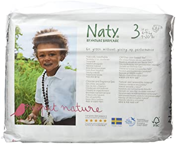 Naty By Nature Babycare Couches écologiques Jetables Taille 3 Midi 4