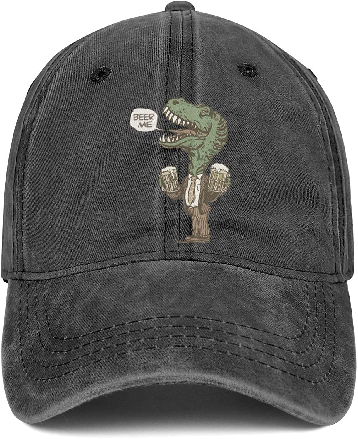 Beer Me T Rex Unisex Baseball Cap Quick Dry Running Caps Adjustable Trucker Caps Dad-Hat